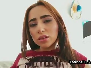 Latina actress casting escalates into sexy blowjob audition