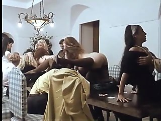 Spectacular vintage orgy for unleashed and perverse sex