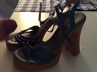 Italian platform sandals cumshot