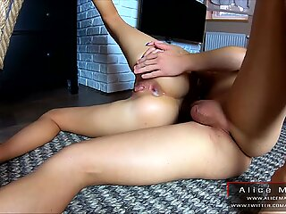 Fucking On The Ladder! Standing Sex With Hot Blonde! AliceMargo.com
