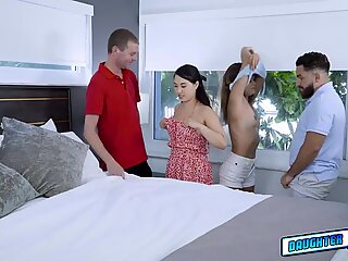 Pervy dads exchanging their stepdaughters underwears