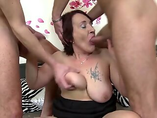 Old whores suck and fuck young meat