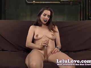 Lelu Love-Black Lipstick StrapOn CBT JOI