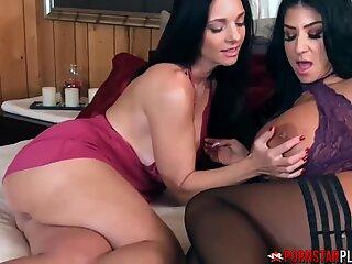 PORNSTARPLATINUM Mindi Mink Hairy Pussy Eaten By Busty MILF