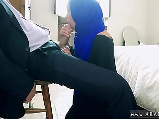 Arab milf sucking boss dick