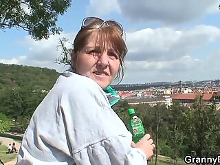 Hot sex with 70 years old bitch