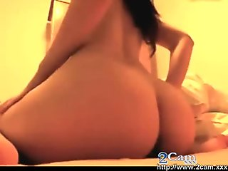 Stunning italian girl dildo DP on cam