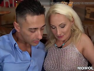 My neighbor is a pornstar, lucky guy drills GILF Szandi