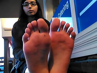 wondrous Indian lady soles Black Toes