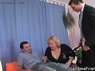 Big boobs old grandma double penetration