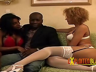 African babe gets fucked in EU by friends
