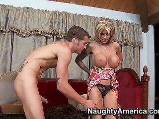 Hot mature pornstar Olivia fucked by teen Chris Johnson
