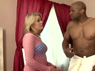 Luscious blonde wife indulges in a wild affair with a hung black stud