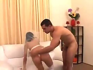 Guy teaching girlfriend how to fuck before married