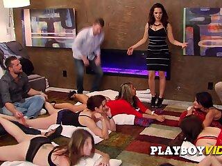 Latin swinger wife gets her nice bouncy titties teased
