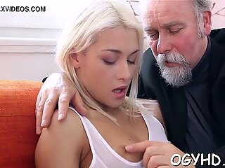 Juvenile sweetie screwed by old lover