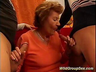 Mmy grandmas first gangbang
