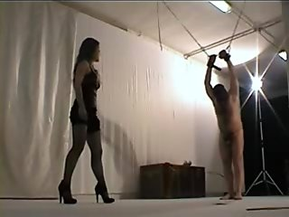 Brutal whipping by italian mistress