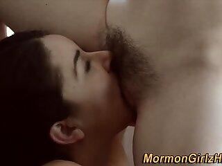 Muffdiving mormon milf