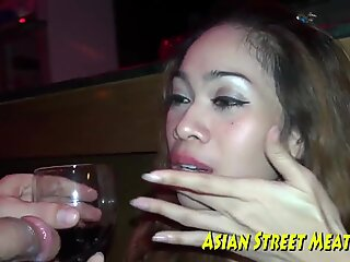 I Drink Wine While Ass poked Jap swallows My love jam