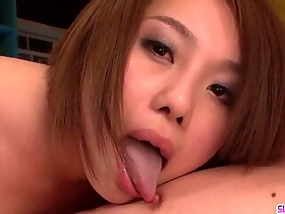 Yurika Momo Gives Head  - More at Slurpjp com