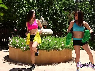 Alison is hungry for some tight cheerleader pussy