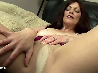 Old European cunt dreaming of young hard cock