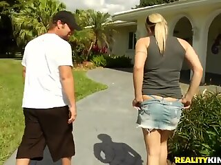 Hot seduction of the amazing blonde chick
