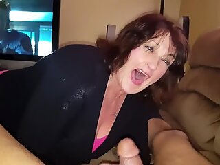 chesty mom Peggy absorbs my spears