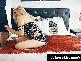 Milking Mommy Julia Ann Sucks &amp_ Fucks Raging Rock Hard Cock!