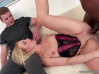 Blonde German Swinger Wife Fucks BBC