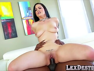 Asian american chick Katrina Jade auditions and rides Lexs bbc