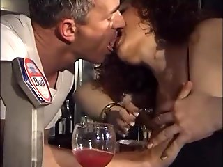 Horny Jessica walk into the bar of sin to taste the bartender'_s cock