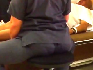 STOOL BOOTY IN SCRUBS