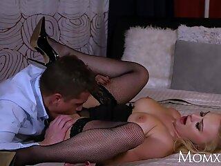 MOM Polish blond Elizabeth Romanova manacled gargle and doggy fuck