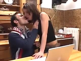 Nice Italian Couple does Anal in the Kitchen.