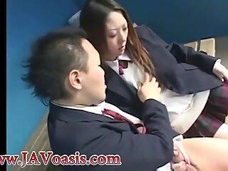 Pretty Japanese schoolgirl fucking - More at www.JAVoasis.com