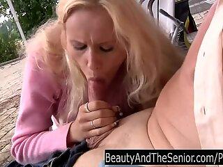 Teen babe blow an senior spear