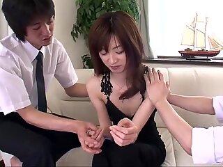 Kanon Hanai works magic on boner by blowing and tearing up  - More at 69avs com