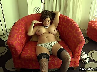 Big tit country MILF rails fuckpole behind the scenes