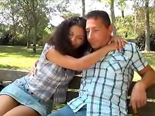 Curly Italian milf sucks off a hot dude