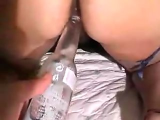 Beer in cunt and in ass