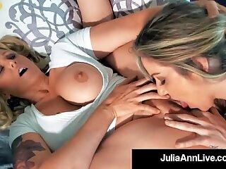 Busty Cougar Julia Ann Muff Dives With Lesbian Kayla Paige!