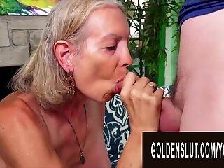 Golden Slut - Blonde Mature Beauties Blowjob Compilation Part 1