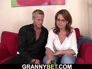 He picks up boozed big tits mature woman