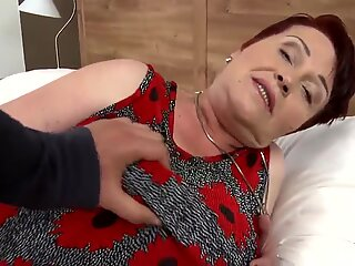 Busty grandmother suck and fuck young boy