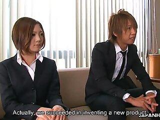 Iroha Kawashima gets busy during presentation